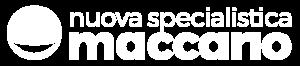 Logo in bianco dello studio dentistico Maccario a Novara