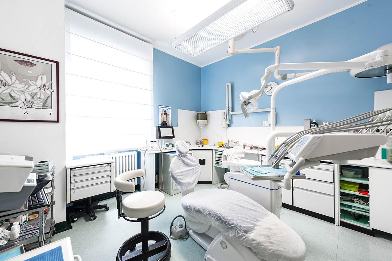 Sala azzurra dello Studio Dentistico Maccario a Novara